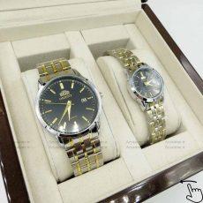 مدل ساعت مچی اورینت orinet ست بند استیل صفحه مشکی